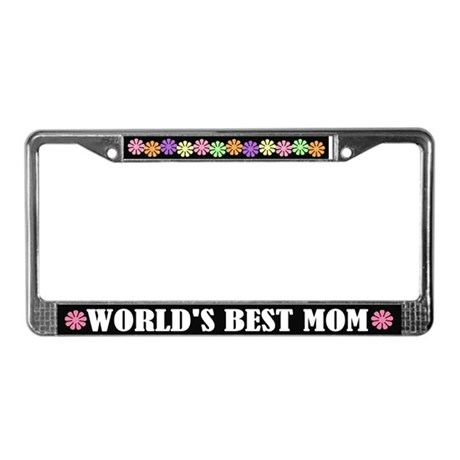 Colorful Best Mom License Plate Frame