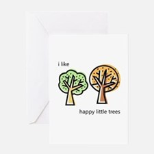 """""""Happy Trees"""" Greeting Card"""