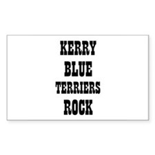 KERRY BLUE TERRIERS ROCK Rectangle Decal