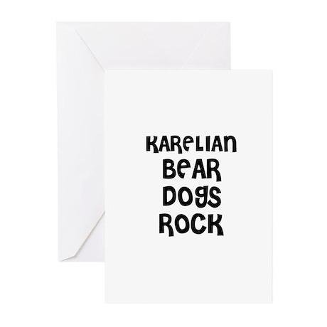 KARELIAN BEAR DOGS ROCK Greeting Cards (Package of