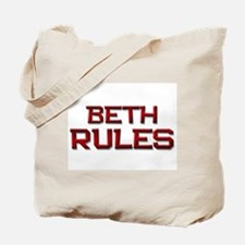 beth rules Tote Bag
