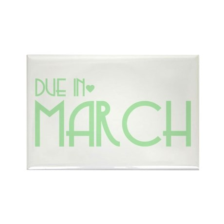 Green Urban Heart Due March Rectangle Magnet