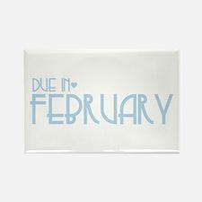 Blue Urban Heart Due February Rectangle Magnet