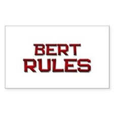 bert rules Rectangle Decal