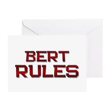 bert rules Greeting Card