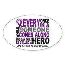HERO Comes Along 1 Friend PC Oval Decal