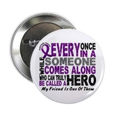 "HERO Comes Along 1 Friend PC 2.25"" Button (10 pack"
