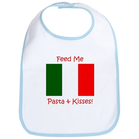 Feed Me Pasta and Kisses Bib