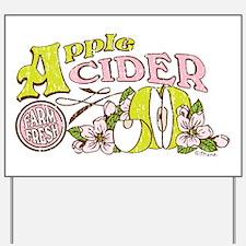 Apple Cider Yard Sign