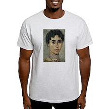 Wisdom of Greece: Hypatia Ash Grey T-Shirt