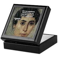 Wisdom of Greece: Hypatia Keepsake Box