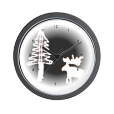 Moose Moon Wall Clock