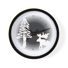Moose Moon Wall Clock