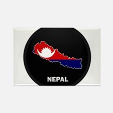 Flag Map of Nepal Rectangle Magnet