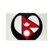 I love Nepal Flag Rectangle Magnet
