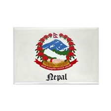Nepalese Coat of Arms Seal Rectangle Magnet