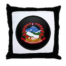 Coat of Arms of Nepal Throw Pillow