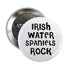 IRISH WATER SPANIELS ROCK Button