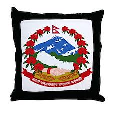 Nepal Coat of Arms Throw Pillow