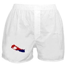 Nepal Flag Map Boxer Shorts