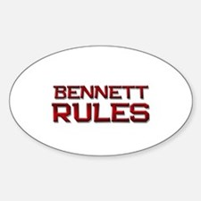 bennett rules Oval Decal