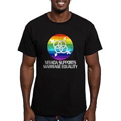 Nevada Supports Marriage Equality dark tshir