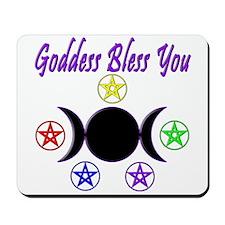Goddess Bless You Mousepad