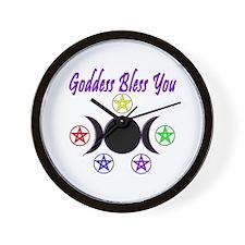 Goddess Bless You Wall Clock