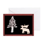 Black Moose T's Season's Greeting Card (Pack of 6)