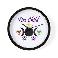 Fire Child Wall Clock