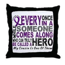 HERO Comes Along 1 Cousin PC Throw Pillow