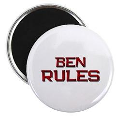 ben rules Magnet