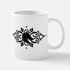 tatt4_tribal_head_Sil_horiz_5.5x2.5 Mugs