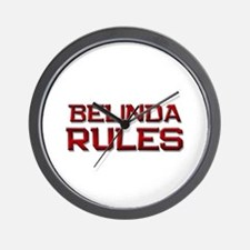 belinda rules Wall Clock