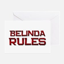 belinda rules Greeting Card
