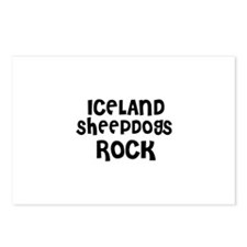 ICELAND SHEEPDOGS ROCK Postcards (Package of 8)