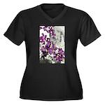 Photo montage Women's Plus Size V-Neck Dark T-Shir
