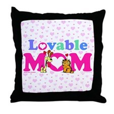 Lovable Mom Vintage Throw Pillow