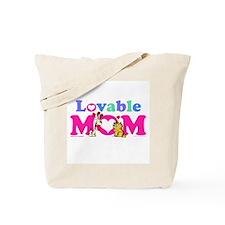 Lovable Mom Vintage Tote Bag