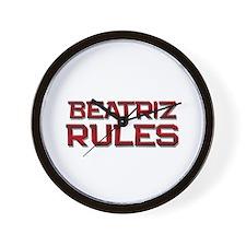 beatriz rules Wall Clock