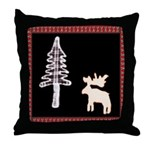 Black Moose T's Throw Pillow
