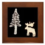Black Moose T's Framed Tile