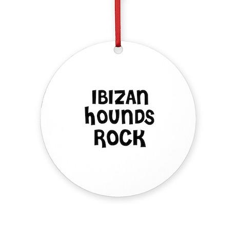 IBIZAN HOUNDS ROCK Ornament (Round)