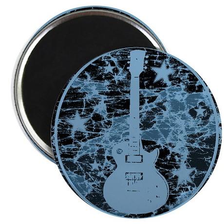 Blue Distressed Star Guitar Magnet