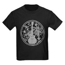 Grey Distressed Star Guitar T