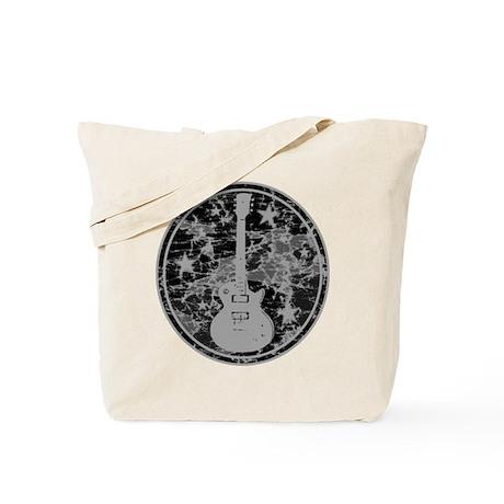 Grey Distressed Star Guitar Tote Bag
