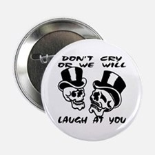 """Theater Masks Don't Cry 2.25"""" Button"""