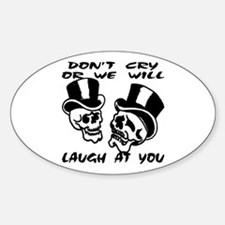Theater Masks Don't Cry Oval Decal