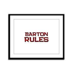 barton rules Framed Panel Print