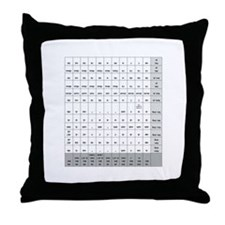 CANE Noun Chart Throw Pillow